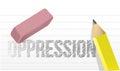 Erasing oppression concept illustration Royalty Free Stock Photo