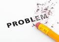 Erasing problem Royalty Free Stock Photo