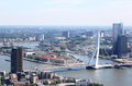 Erasmus Bridge in Rotterdam, Netherlands Royalty Free Stock Photo