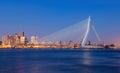 Erasmus Bridge Royalty Free Stock Photo