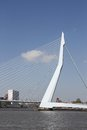 The erasmusbrug famous rotterdam landmark bridge also called swan Stock Photos