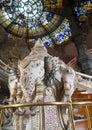 Erawan sculpture in Bangkok. Royalty Free Stock Photo