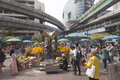 Erawan shrine in bangkok where bomb was planted popular place for prayer downtown http www telegraph co uk news Stock Photography