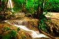 Erawan waterfall . Royalty Free Stock Image