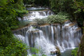 Erawan waterfall deep forest at national park kanjanaburi thailand Royalty Free Stock Photo