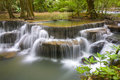 Erawan waterfall ii deep forest at national park kanjanaburi thailand Royalty Free Stock Photos