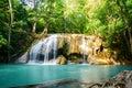 Erawan waterfall in kanchanaburi province thailand beautiful Stock Photo
