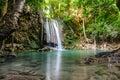 Erawan waterfall in kanchanaburi province thailand beautiful Stock Images