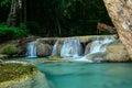 Erawan waterfall in kanchanaburi province thailand beautiful Royalty Free Stock Photos