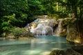 Erawan waterfall in kanchanaburi province thailand beautiful Stock Photography