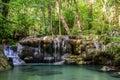 Erawan waterfall in kanchanaburi province thailand beautiful Royalty Free Stock Photo