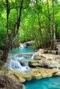 Erawan Waterfall, Kanchanaburi, Thailand Royalty Free Stock Photo