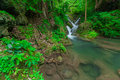 Erawan waterfall in kanjanaburi thailand Royalty Free Stock Images