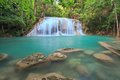 Erawan waterfall natural park kanchanaburi thailand Royalty Free Stock Photo
