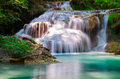 Erawan waterfalls national park in kanchanaburi province in thailand Royalty Free Stock Image