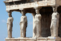 Erechteum caryatids Royalty Free Stock Photo