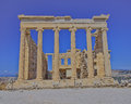 Erechtheion ancient temple athens greece ionian order Stock Photography