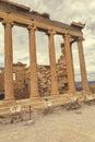 Erechtheion columns at the Acropolis 5 Royalty Free Stock Photo
