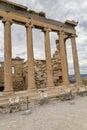 Erechtheion columns at the Acropolis Royalty Free Stock Photo