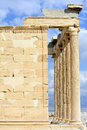 Erechtheion temple acropolis in athens greece Stock Image