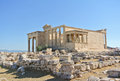 Erechtheum at acropolis athens greece Stock Photography