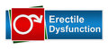 Erectile dysfunction blue red green banner symbol with cross on background Royalty Free Stock Images