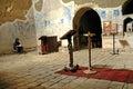 Eremite praying in David Gareja monastery, Georgia Royalty Free Stock Photo