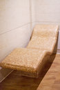 Ergonomic lounger with heated in the spa salon Stock Photo