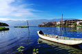 Erhai lake at Shuanglang town Stock Photography