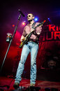 Eric church amrican country usic singer songwriter kenneth during a concert in march Stock Image
