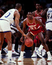 Eric floyd houston rockets point guard sleepy image taken from color slide Royalty Free Stock Images