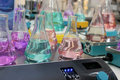 Erlenmeyer flasks Stock Images