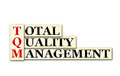Erm conceptual tqm total quality management acronym on white Stock Photos