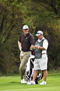 Ernie Els and Caddie - NGC2010 Stock Photography