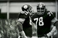 Ernie holmes and dwight white former members of the steel curtain image taken from b w negative Stock Photos