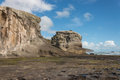 Eroded cliffs at muriwai in new zealand Royalty Free Stock Photo