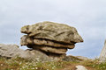 Eroded granite a tor a pile of on the coast of brittany in france Stock Images