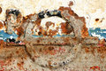 Eroded old paint on metal surface Royalty Free Stock Photos