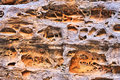Eroded sandstone in Cathedral Gorge Royalty Free Stock Photo
