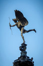 Eros statue at piccadilly circus in london uk Royalty Free Stock Images