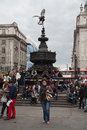 Eros statue piccadilly cirkus london Arkivbild