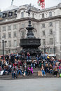 Eros statue piccadilly cirkus london Arkivfoto