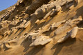 Erosion - Cliff Face - Cyprus Stock Photos