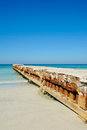 Erosion control structure a concrete on the florida coastline Royalty Free Stock Photography