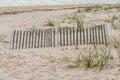 Erosion Fence On Dunes Royalty Free Stock Photo