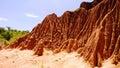 Erosion sand ravine Royalty Free Stock Photo