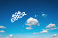 Error clouds on the clear blue sky Royalty Free Stock Photography