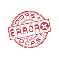 Error grunge rubber stamp Royalty Free Stock Photo