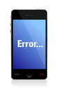 Error message on phone Royalty Free Stock Images