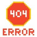 Error page 404 pixel retro game style